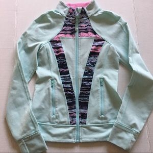 Ivivva Aqua Pink Zip Up Jacket